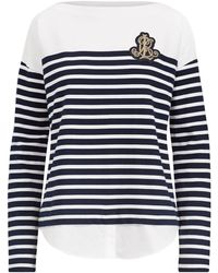 Lauren by Ralph Lauren - Striped Layered Cotton Jumper - Lyst