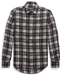 Ralph Lauren Purple Label - Plaid Silk Dress Shirt - Lyst