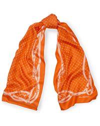 Ralph Lauren | Dotted Bridle-print Silk Scarf | Lyst