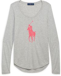 Ralph Lauren - Pink Pony Long-sleeve T-shirt - Lyst