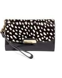 Pink Pony - Spotted Haircalf Wristlet - Lyst
