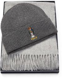 41620b8cc5856 Lyst - Polo Ralph Lauren Polo Bear Blue Jean Jacket Cuffed Hat in ...