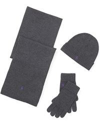 10720bc9d sweden mens polo winter hat gloves scarf set f68ab 319bb  where can i buy polo  ralph lauren hatscarf glove 3 piece set lyst 243f3 74949