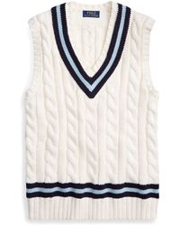 Polo Ralph Lauren - Cotton Cricket Sweater Vest - Lyst