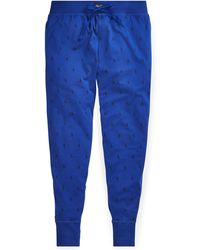 Polo Ralph Lauren Pantalon de jogging à poney distinctif en jersey - Bleu