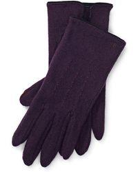 Ralph Lauren - Lambswool-blend Tech Gloves - Lyst
