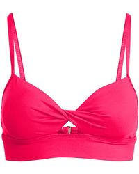 Lauren by Ralph Lauren - Twist Cutout Bikini Top - Lyst