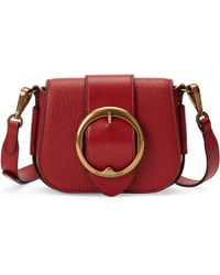 76551c7257d3 Polo Ralph Lauren Mini Leather Saddle Bag in Brown - Lyst