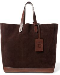Pink Pony | Leather-trimmed Suede Tote | Lyst