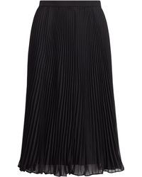 Polo Ralph Lauren - Pleated Georgette Skirt - Lyst