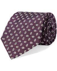 Polo Ralph Lauren - Pine-print Silk Narrow Tie - Lyst
