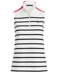 Ralph Lauren Golf - Striped Sleeveless Polo Shirt - Lyst
