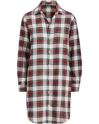 Ralph Lauren - Brushed Twill Sleep Shirt - Lyst