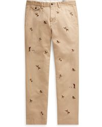 Polo Ralph Lauren - Slim Fit Embroidered Chino - Lyst