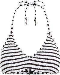 Polo Ralph Lauren - Pique Stripe Halterneck Swim Top - Lyst
