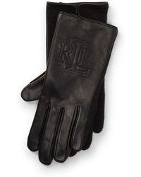 Ralph Lauren - Leather-lambswool Gloves - Lyst