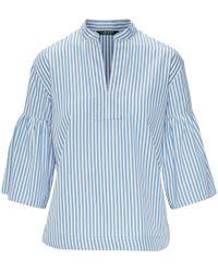 Ralph Lauren - Striped Cotton Bell-sleeve Top - Lyst