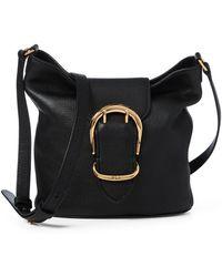 Ralph Lauren - Pebbled Leather Bucket Bag - Lyst