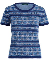 Lauren by Ralph Lauren - Geometric-print Sweater - Lyst