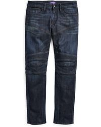 Ralph Lauren Purple Label - Slim Fit Moto Jean - Lyst