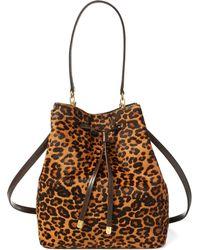 Ralph Lauren - Leopard Debby Drawstring Bag - Lyst