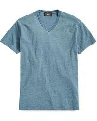 RRL - Indigo Cotton Jersey T-shirt - Lyst