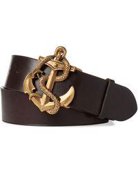 Ralph Lauren Purple Label - Anchor Leather Belt - Lyst