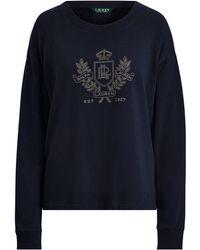 6ea79a453a60 Polo Ralph Lauren Lightweight Fleece Sweatshirt in Red - Lyst