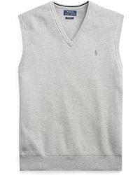 Polo Ralph Lauren - Textured Cotton Jumper Vest - Lyst