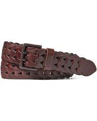 Ralph Lauren - Braided Vachetta Leather Belt - Lyst