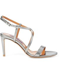 Ralph Lauren - Arissa Metallic Leather Sandal - Lyst