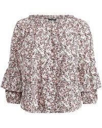 Ralph Lauren - Ruffled-cuff Floral Jersey Top - Lyst