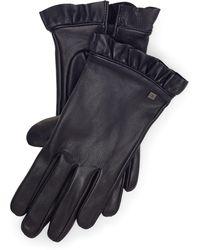Ralph Lauren - Ruffled Leather Tech Gloves - Lyst