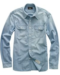 RRL - Cotton Chambray Workshirt - Lyst