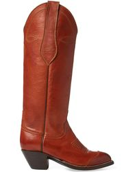 Polo Ralph Lauren - Kiera Leather Cowboy Boot - Lyst