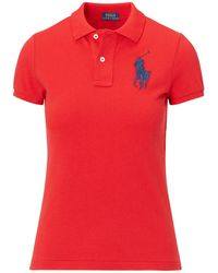 Polo Ralph Lauren - Skinny Fit Big Pony Polo Shirt - Lyst