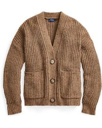 Polo Ralph Lauren - Cropped Wool-blend Cardigan - Lyst