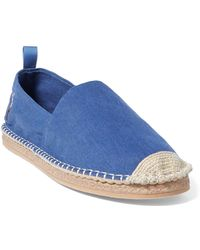 8b0630b8d0f Lyst - Polo Ralph Lauren Barron Washed Twill Espadrille in Green for Men