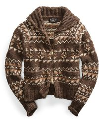 RRL - Cowichan-inspired Zip Sweater - Lyst