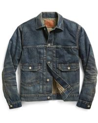 RRL - Denim Trucker Jacket - Lyst