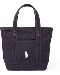 180d50883f Polo Ralph Lauren Rl-93 Canvas Tote Bag in Red - Lyst