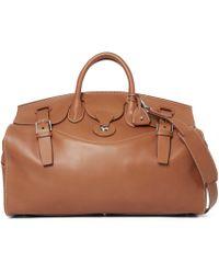 c40142288edf Ralph Lauren - Saddle Calfskin Cooper 50 Bag - Lyst