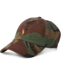 Polo Ralph Lauren Oilcloth And Leather Cap in Green for Men - Lyst ea95ce4f1270