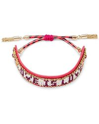 "Rebecca Minkoff - ""love Is Love"" Seed Bead Bracelet - Lyst"