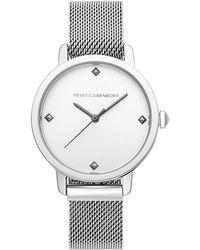 Rebecca Minkoff - Bffl Silver Tone Mesh Bracelet Watch, 36mm - Lyst