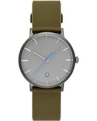 Rebecca Minkoff - Norrebro Grey Tone Rubberized Strap Watch, 40mm - Lyst