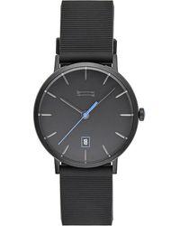 Rebecca Minkoff - Norrebro Black Tone Rubberized Strap Watch, 40mm - Lyst