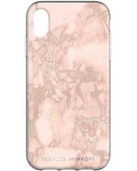 Rebecca Minkoff - Blush Marble Case For Iphone Xs Max - Lyst