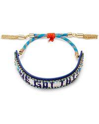 "Rebecca Minkoff - ""we Got This"" Seed Bead Friendship Bracelet - Lyst"