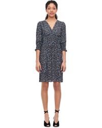 Rebecca Taylor - Zelma Floral Silk V-neck Dress - Lyst